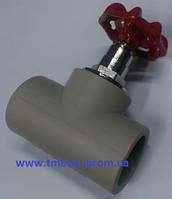 Вентиль полипропиленовый(ППР) диаметр 32(ромашка) для плавного перекрытия воды в системах водоснабже