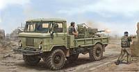 1:35 Сборная модель автомобиля ГАЗ-66 с ЗУ-23-2, Trumpeter 01017