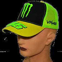 Бейсболка яркая неоновая с вышитыми логотипами VR|46