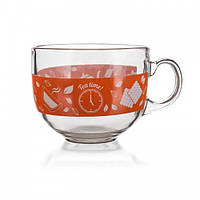 Чашка стеклянная banquet 435 мл malaga tea time (04207004)