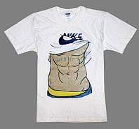 """Мужская футболка Nike с принтом """"торс"""" , белая"""