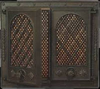 Каминная дверца застекленная с решеткой Pisla HTT 108