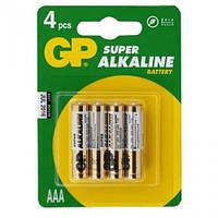 Бат. 24A-U4 PCTG щелочная, AAA, 1.5V, GP, U-5 для игрушек