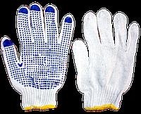 Перчатки простые плотные, с ПВХ-рисунком (уп. - 12 пар)