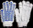"""Перчатки плотные """"Волна"""", с ПВХ-рисунком (уп. - 12 пар)"""
