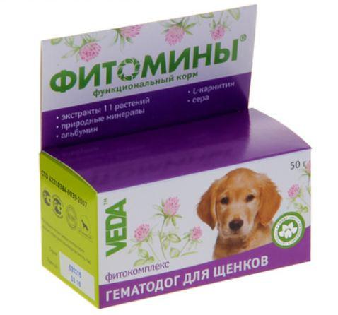 Витамины Фитомины ГематоДог для щенков, №100