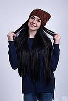 Модная молодежная шапка с ушками