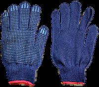 Перчатки синтетика, с ПВХ-рисунком (уп. - 12 пар)