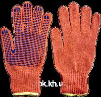 Перчатки х/б, с ПВХ-рисунком (уп. - 12 пар)