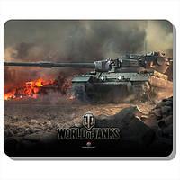 Коврик для компьютерной мышки с боевой машиной и логотипом World of Tanks