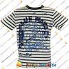 Полосатые футболки с корабликом для мальчика от 5 до 8 лет (4026-1)