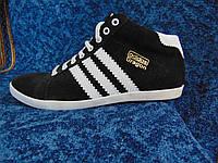 Мужские высокие кеды Adidas black Украина, фото 1