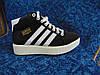 Женские повседневные кроссовки ADIDAS Dragon черные с белым