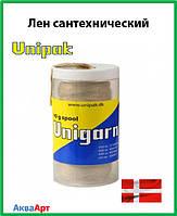 Сантехнический лен Unigarn (шпуля в пластиковом контейнере 80 грамм)