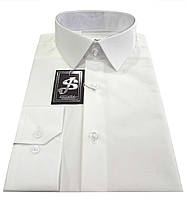Мужская рубашка классическая из сатина - айвори № 10к.  ткань L 4383/21