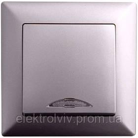 Выключатель 1-кл. с подсветкой