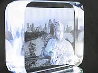 Кристалл- K18S( 8x10x3 см ) 2D и 3D с Вашим фото