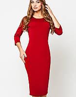 Платье из французского трикотажа   Эльвира leo темно-красный
