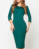 Платье из французского трикотажа   Эльвира leo темно-зеленый