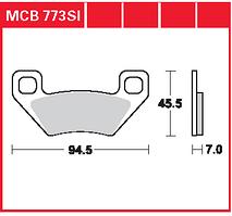 Arctic Cat / Kymco тормозные колодки TRW / Lucas MCB773SI