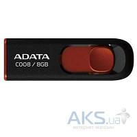 Флешка ADATA 8Gb C008 black+red (AC008-8G-RKD)