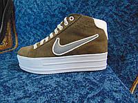 Женские повседневные кроссовки Air коричневые с белым