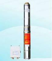 """Насос скважинный с повыш.устойчивостью к песку 4"""" OPTIMA 4SDm 3/7 0.55 кВт 51м. (пульт+кабель15м)"""