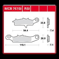 Suzuki ATV / Kawasaki ATV колодки тормозные комплект TRW / Lucas MCB757SI