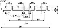 Коллектор однобалочный (125) на 4+1 выход