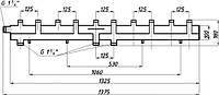 Коллектор однобалочный (125) на 5+1 выход
