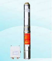 """Насос скважинный с повыш.устойчивостью к песку 4"""" OPTIMA 4SDm6/10 1.5 кВт 74м. (пульт+кабель50м)"""