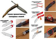 Виды замков складных ножей