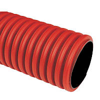 Двустенная ПНД/ПВД труба Kopodur 200 мм. Жесткая гофротруба для кабеля в грунт.