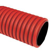 ПНД/ПДВ гофра в грунт Kopodur 110 мм. Жесткая двустенная гофротруба для кабеля