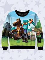 Світшот дитячий 3D Minecraft Knights/ Свитшот Майнкрафт рыцарь