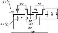 Коллектор однобалочный (150) на 2+1 выход