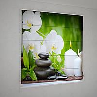 Римские фотошторы  орхидея возле свечи