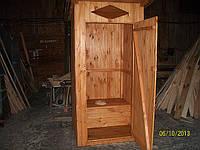 Туалетная кабина из вагонки с сидением для дачи