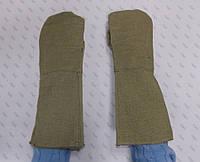 Краги брезентовые, рукавицы брезентовые с крагами.