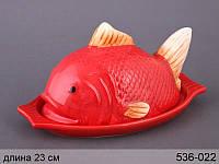 Масленка керамическая Рыбка красная 536-022