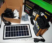 Портативный аккумулятор-фонарь на солнечной батарее GDLite GD-8131 (+ налобный фонарь)