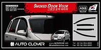 Дефлекторы окон (ветровики) на Шевроле Авео-1,2 хетчбек с 03-08 (клеющие) 4-шт. Корея Avto Clover.