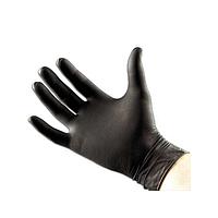 Нитриловые ЧЕРНЫЕ перчатки Prestige Medical без пудры, размер S, 100шт/уп
