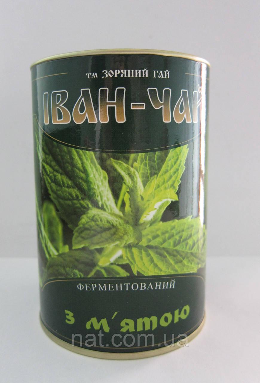 Иван-чай ферментированный с мятой, 100% натуральный, 100 г