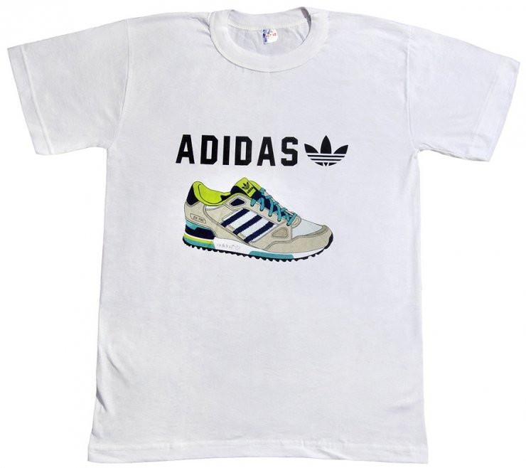 Футболка Adidas ZX-750 белого цвета