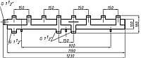 Коллектор однобалочный (150) на 4+1 выход
