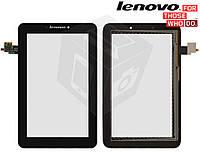 Сенсорный экран (touchscreen) для Lenovo IdeaTab A2107A / A2207 / A2207A, черный, оригинал