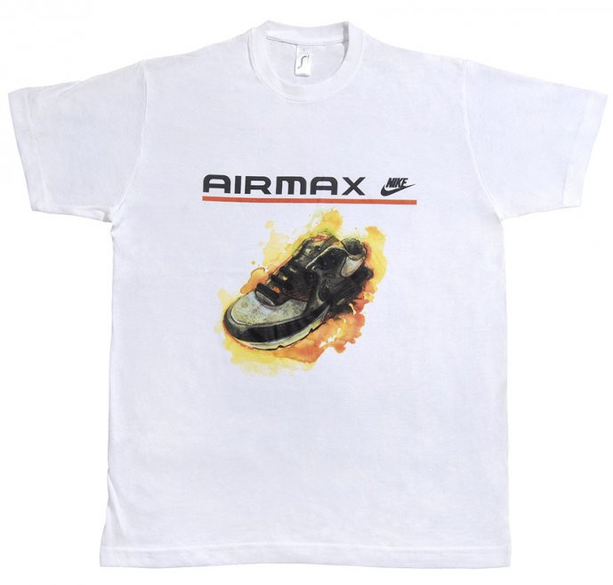 Мужская футболка Nike Air Max белого цвета с логотипом