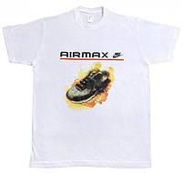 Мужская футболка Nike Air Max белого цвета с логотипом, фото 1