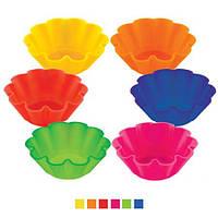 Набор силиконовых форм для кексов, 6 шт.